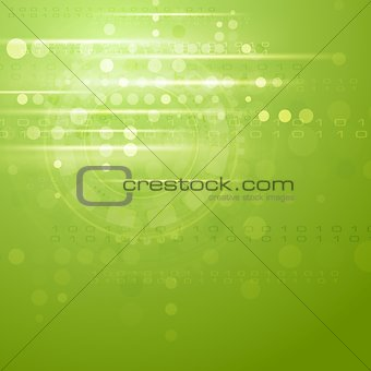 Green hi-tech vector background