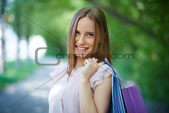 Shopper outdoors