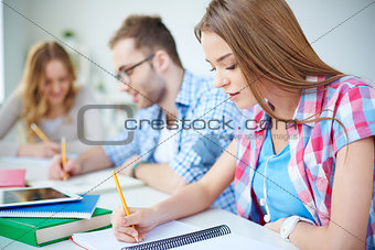 Working at lesson