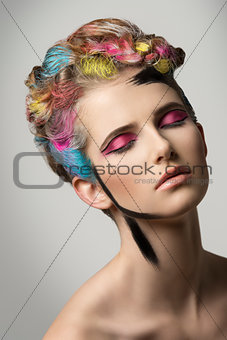 girl in creative beauty portrait