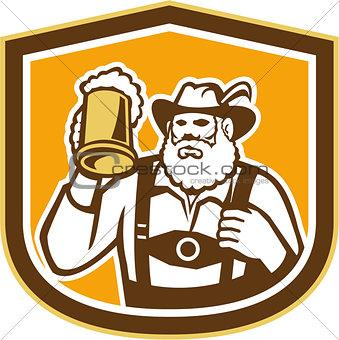 Bavarian Beer Drinker Mug Shield Retro