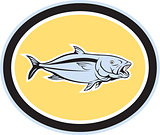 Kingfish Cartoon Oval