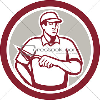 Tiler Plasterer Mason Masonry Worker Circle