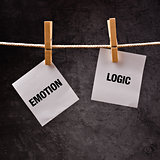 Emotion or Logic concept.