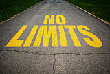 No limits message on the road