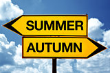 Summer or autumn opposite signs