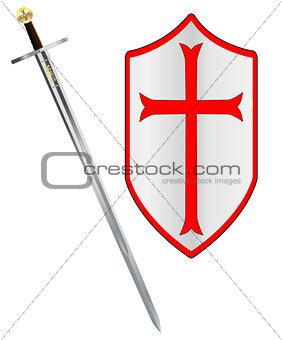 Crusaders Sword and Shield