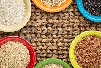 bowls of rice abstract