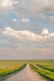 rural road in Colorado grassland