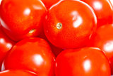 background of big ripe red tomatoes