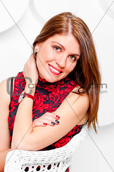 beautiful smile charming girl, studio shooting