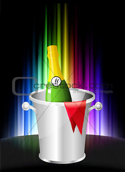 Champagne on Abstract Spectrum Background