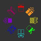 rainbow presents