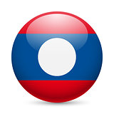 Round glossy icon of Laos