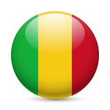 Round glossy icon of Mali