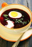 Beet soup.