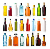 set of various bottles