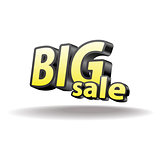 Isolated volumetric letters big sale. Isolated.  Black and yellow.