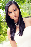 attractive young asian woman beauty portrait