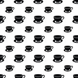 Seamless pattern of black cup
