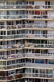Apartment block in Paris