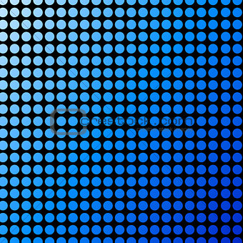 Background with blue polka dots