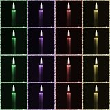 Seamless decorative pattern with a candles