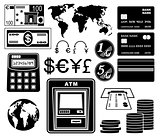 Financial, bank set of icons.
