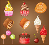 Sweet pastry set.