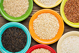 variety of rice grains