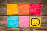 blank sticky notes with smiley