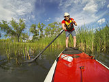 stand up paddling (SUP) on lake