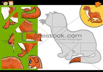 cartoon weasel jigsaw puzzle game