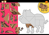 cartoon warthog jigsaw puzzle game