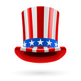 Top hat made of US flag