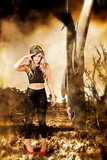 Tough Australian pin-up girl. Spirit of the ANZAC
