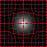 Red grid lighting convex background