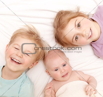 Happy children at home