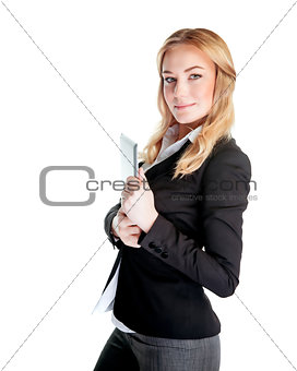 Beautiful young business woman