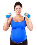 Sportive pregnant girl