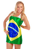 Brazilian football team fan
