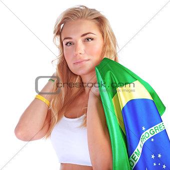 Portrait of Brazilian football fan