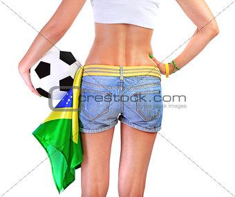 Brazilian football team supporter