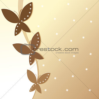 Background with colorful butterflies.