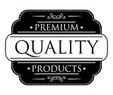 Black Premium Quality label