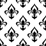 Modern fleur de lys background seamless pattern