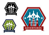 Flight adventures emblem or label