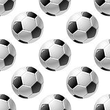 Football or soccer ball seamless pattern