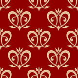 Swirling hearts seamless background pattern