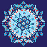 blue decorative oriental pattern and ornaments version